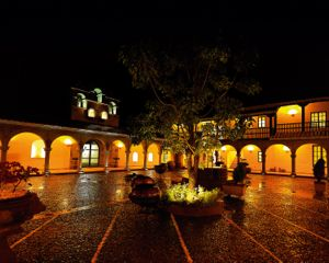 Aranwa Sacred Valley courtyard Peru tours