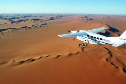 Flying over the great Namib desert