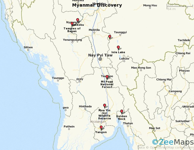 Myanmar Discovery Map