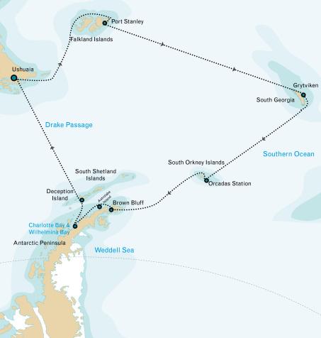Antarctic Cruise to Antarctica Falklands South Georgia