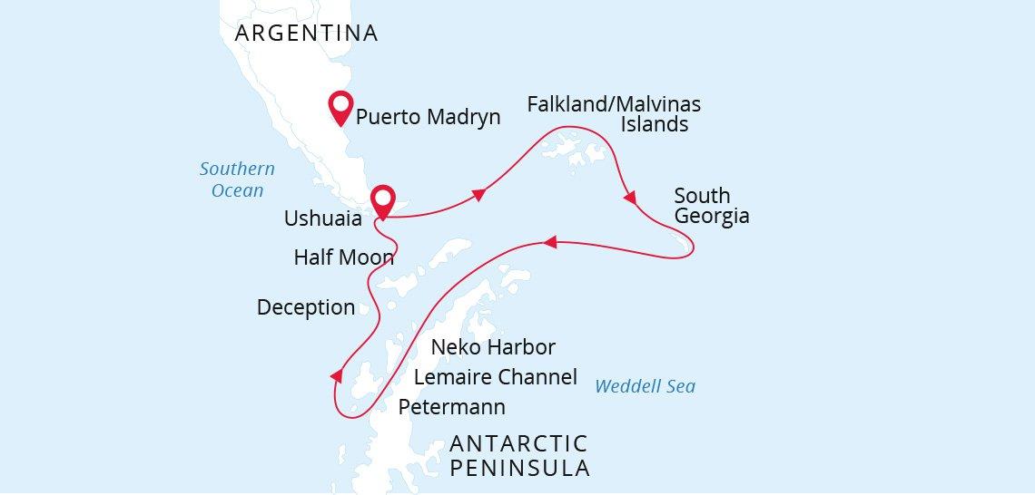 Antarctica Falklands Amp South Georgia Islands On Sea Spirit