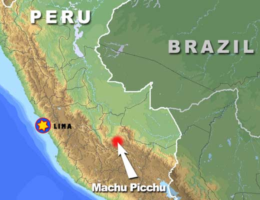 Machu picchu tours and the inca world map inca world sciox Choice Image